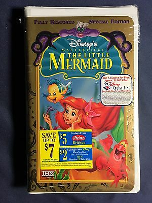 The Little Mermaid VHS Tape Fully Restored Disney Brand New Sealed