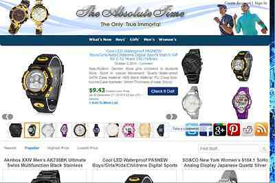 LOVELY WATCH STORE - FULLY DEVELOPED AMAZON AFFILIATE WEBSITE - Free Hosting