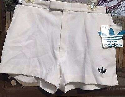 vtg 70s 80s Adidas white tennis shorts Jimmy Connors NEW NWT Mens 34 polyester