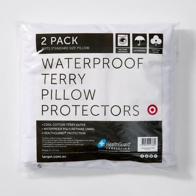 NEW Waterproof Terry Pillow Protectors