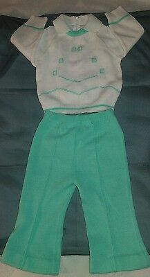 Vtg Toddle Time JcPenney Newborn Baby 2 Piece Matching Set 23-26 lbs Sz 1 1/2