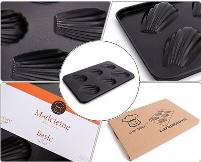 Non-stick Steel Mould Bakeware 6-Cup Madeleine Shell Tin Pan Cupcake Baking Tray