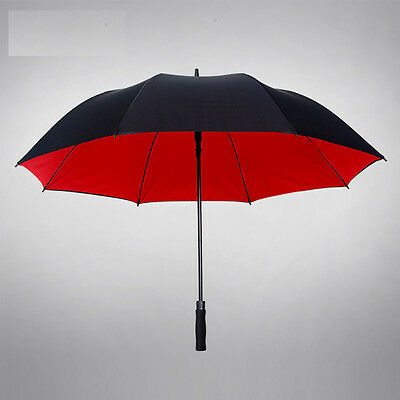 Double Layer Large size - Mens business umbrella black golf RainStoppers sun UV