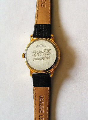 Jostens Gold Tone Swiss Quartz Coca Cola Enterprises Employee Watch