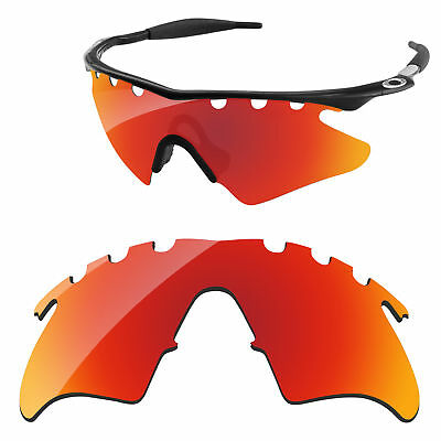 cc3194028f Red Mirrored Polycarbonate Replacement Lenses For-Oakley M Frame Heater  Vented