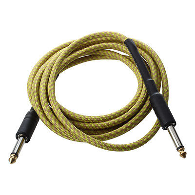 Yellow Connection Cable for Acoustic Guitar Electric Bass 3M R9B8