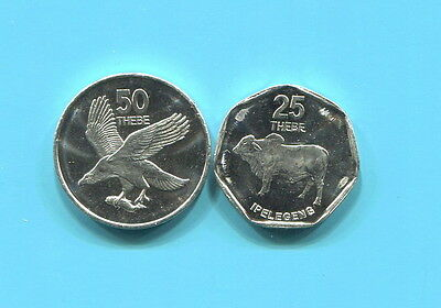 Bostwana - Two Fantastic 1998 Coins, 25 & 50 Thebe