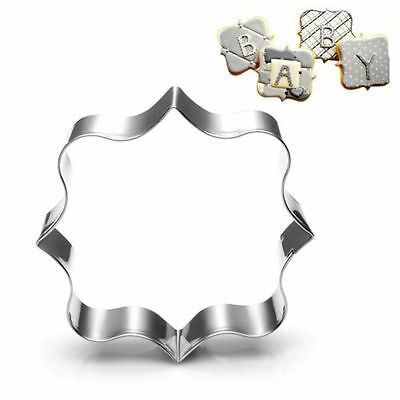 1PC Fancy Plaque Frame Stainless Steel Cookie Cutter Fondant Cake Mold Mould Set