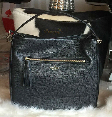 Kate Spade Chester Street Michaela Leather Bag Crossbody Handbag Black