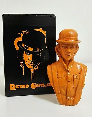 RETRO OUTLAW Rare Alex DeLarge Droog Bust Figure CLOCKWORK ORANGE Signed Box