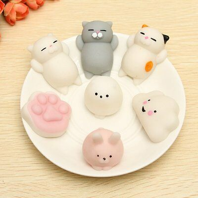Japanese Style Mochi Toy Squishy Squeeze Seal/Kitty/Rat/Polar Bear Comfort Gift