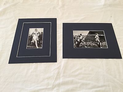 "Sir Roger Bannister & John Landy hand signed photos matted to fit 8""x10"""