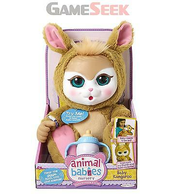 Animal Babies Deluxe Kangaroo Plush - Toys Brand New Free Delivery
