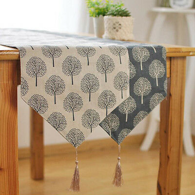 30x220cm Tree Patterns Damask Table Runner Cloth for Wedding Party Table Decor