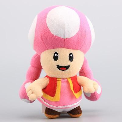 "Toadette Super Mario Bros Plush Toy Game Collectible Doll Kids Xmas Gifts 7"" NEW"