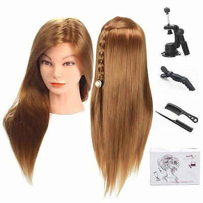 """TopDirect 20"""" Mannequin Head Hair Synthetic Cosmetology Maniquin Manikin Head"""