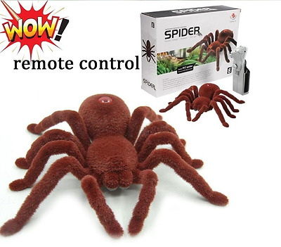 Remote Control Spider Novelty Gift RC Realistic Halloween Prop Model Kids Joke