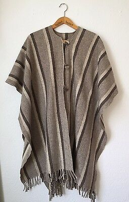 Vintage Blanket Poncho South America Great Colors
