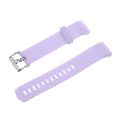 Replacement Silicone Sport Band Strap Clasp For Fitbit Charge 2 Watch Purple