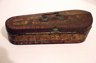 Antique Macfarlane Lang & Co Biscuit Tin Box in the Form of a Violin Case - 1903