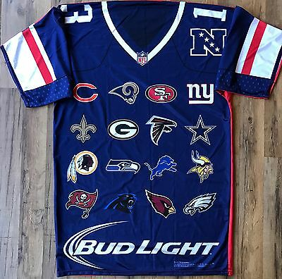 Bud Light NFL NFC AFC Football Team Logos Two Sided Large Banner Flag  Jersey 54