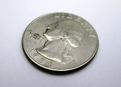 1986-D US Washington QUARTER 25 c coin USA American currency  - EF Fine Example
