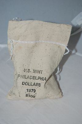 1979 PHILADELPHIA MINT SUSAN B. ANTHONY BAG OF 100 Uncirculated $1 Coins