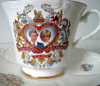 Vintage Prince Charles and Lady Diana Tea Cup, Made in Canada
