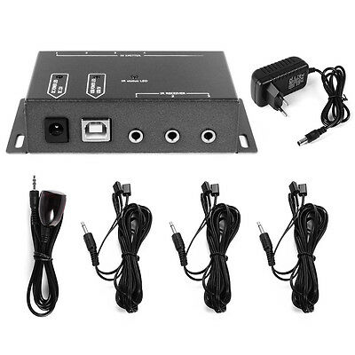IR Extend Repeater System 1 Receiver 8 Emitters Hidden 8m Remote Control AH178