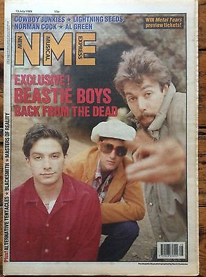 NME 15/7/89 Beastie Boys, Cowboy Junkies, The Perfect Disaster, Norman Cook
