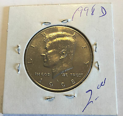 1998 US Kennedy Half Dollar D in Circulated (CIRC) Condition