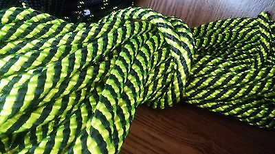 "1/2""x 45 ft. Premium Tight Double Braid Polyester rope hank.Black/Yellow. USA"