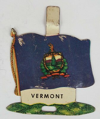 1959 Tin Litho Nabisco Shredded Wheat State Flag for Vermont