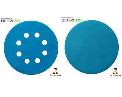 "125mm 5"" Wet or Dry Sanding Discs 40-3000 Sandpaper Pads 8 Hole/N Hole DEERFOS"