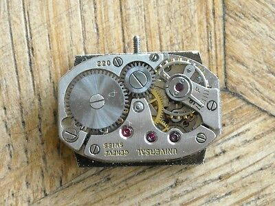 UNIVERSAL GENEVE movement  Cal. 220 for parts.