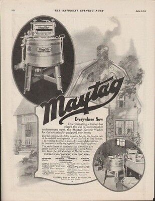 1919 Maytag Washer Home Appliance Cottage Laundry Ad 9562