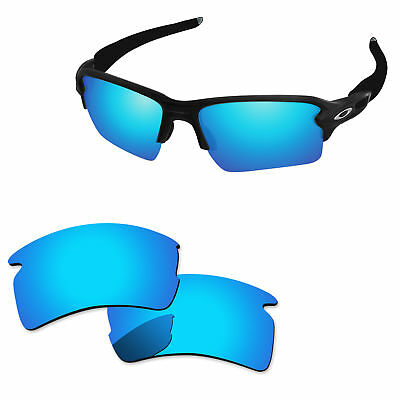 f33995c414 Ice Blue Mirror Polycarbonate Replacement Lenses For-Oakley Flak 2.0 XL  Sunglass