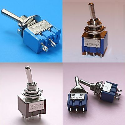 3PDT DPDT SPDT SPST Mini Toggle Switch 9 PIN 6 PIN 3 PIN ON OFF ON,ON ON,ON OFF