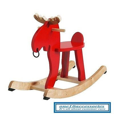 IKEA Rocking-moose EKORRE Red/rubber wood