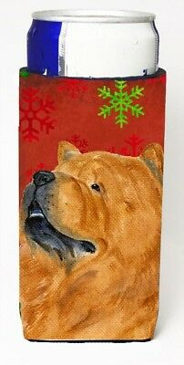 Carolines Treasures SS4709MUK Chow Chow Red And Green Snowflakes Holiday
