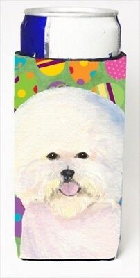 Carolines Treasures SS4871MUK Bichon Frise Easter Eggtravaganza Michelob Ultra