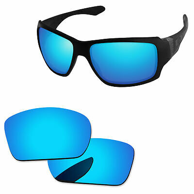 c71956b8d9a Ice Blue Mirror Polycarbonate Replacement Lenses For-Oakley Big Taco  Sunglasses