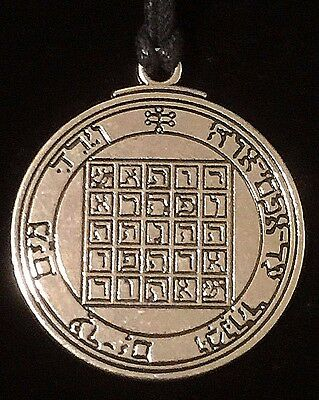 Pentacle of Saturn Solomon Seal Talisman Hermetic Kabbalah Goetic  Amulet w/Bag!