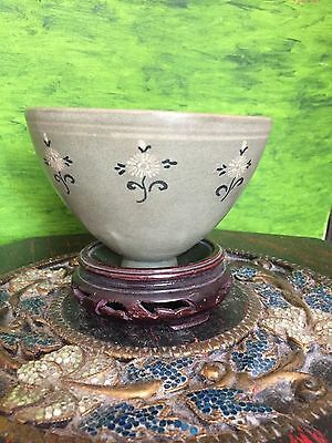 A Fine Antique green glazed porcelain Bowl 19th Century and