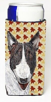 Carolines Treasures SC9547MUK Bull Terrier Fall Leaves Michelob Ultra bottle