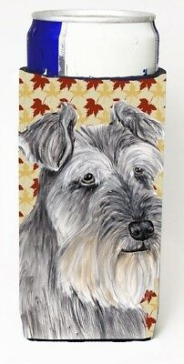 Carolines Treasures SC9234MUK Schnauzer Fall Leaves Portrait Michelob Ultra