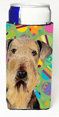 Carolines Treasures SC9453MUK Airedale Easter Eggtravaganza Michelob Ultra s