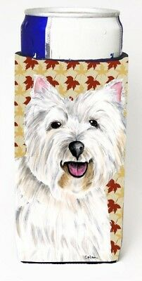 Carolines Treasures SC9210MUK Westie Fall Leaves Portrait Michelob Ultra s For