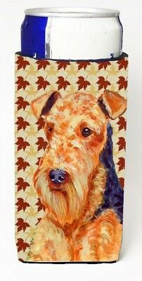 Carolines Treasures LH9111MUK Airedale Fall Leaves Portrait Michelob Ultra s
