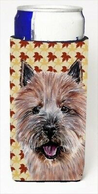 Carolines Treasures SC9686MUK Norwich Terrier Fall Leaves Michelob Ultra